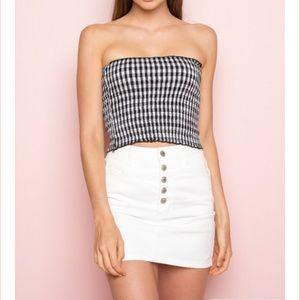 Brandy Melville White Denim skirt